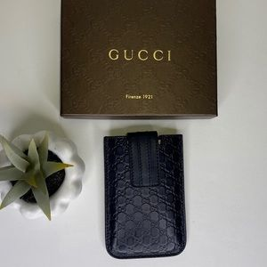 ‼️SALE‼️NEW Gucci 240188 phone case pouch Navy